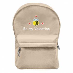 Plecak z przednią kieszenią Pszczoła i serce