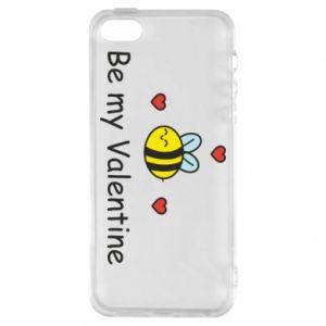 Etui na iPhone 5/5S/SE Pszczoła i serce