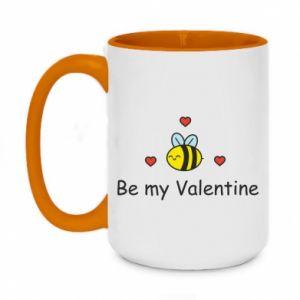 Kubek dwukolorowy 450ml Pszczoła i serce