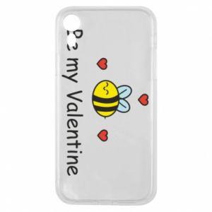 Etui na iPhone XR Pszczoła i serce
