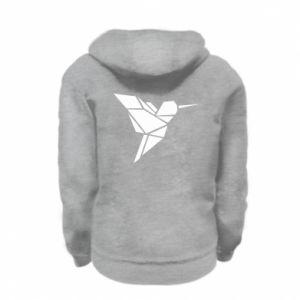 Kid's zipped hoodie % print% Bird