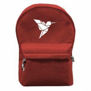 Plecak z przednią kieszenią Ptak