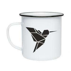 Kubek emaliowane Ptak