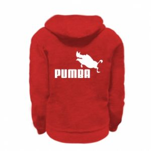Kid's zipped hoodie % print% PUMBA