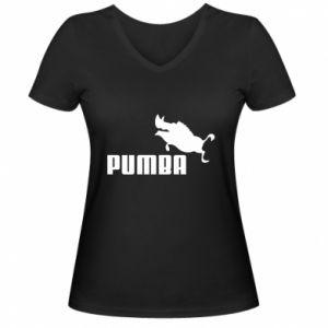Damska koszulka V-neck PUMBA
