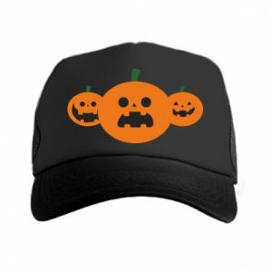 Trucker hat Pumpkins with scary faces - PrintSalon