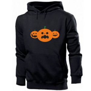 Men's hoodie Pumpkins with scary faces