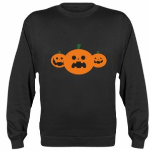 Sweatshirt Pumpkins with scary faces