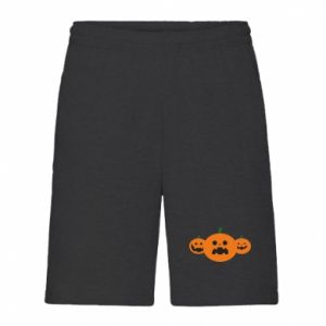 Men's shorts Pumpkins with scary faces