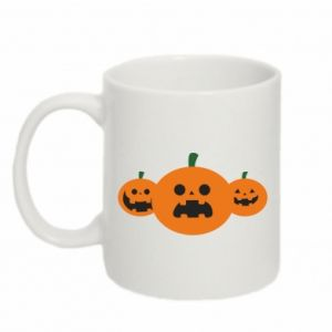 Mug 330ml Pumpkins with scary faces
