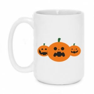 Mug 450ml Pumpkins with scary faces