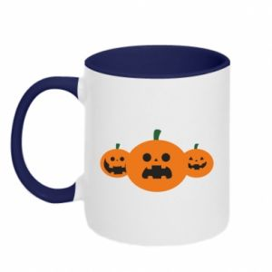 Two-toned mug Pumpkins with scary faces - PrintSalon