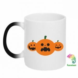 Chameleon mugs Pumpkins with scary faces - PrintSalon