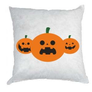Pillow Pumpkins with scary faces