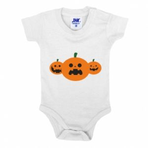 Baby bodysuit Pumpkins with scary faces