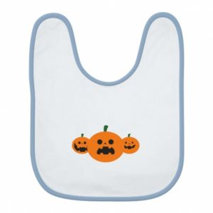 Bib Pumpkins with scary faces
