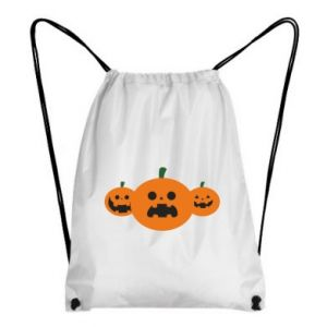 Backpack-bag Pumpkins with scary faces - PrintSalon