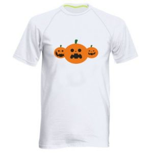 Men's sports t-shirt Pumpkins with scary faces