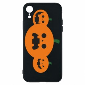 Phone case for iPhone XR Pumpkins with scary faces - PrintSalon