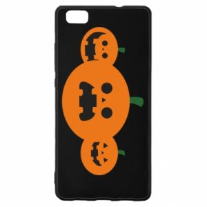 Etui na Huawei P 8 Lite Pumpkins with scary faces
