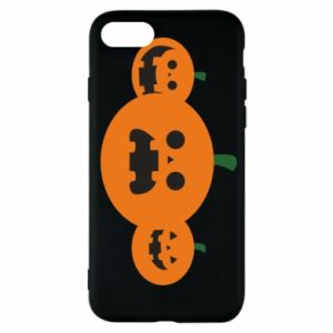 Etui na iPhone SE 2020 Pumpkins with scary faces