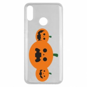 Etui na Huawei Y9 2019 Pumpkins with scary faces