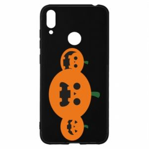 Etui na Huawei Y7 2019 Pumpkins with scary faces