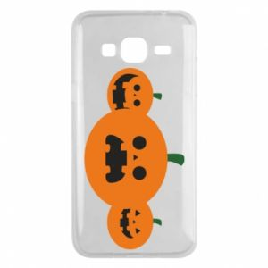 Phone case for Samsung J3 2016 Pumpkins with scary faces - PrintSalon