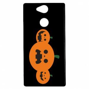 Etui na Sony Xperia XA2 Pumpkins with scary faces