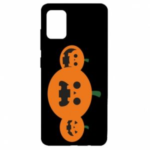 Etui na Samsung A51 Pumpkins with scary faces