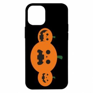 Etui na iPhone 12 Mini Pumpkins with scary faces