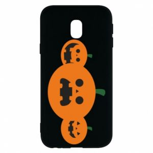 Phone case for Samsung J3 2017 Pumpkins with scary faces - PrintSalon