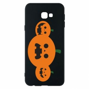 Phone case for Samsung J4 Plus 2018 Pumpkins with scary faces