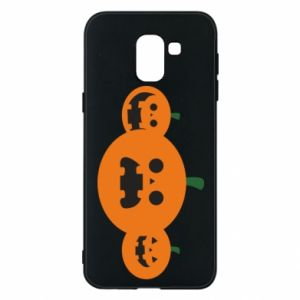 Phone case for Samsung J6 Pumpkins with scary faces - PrintSalon