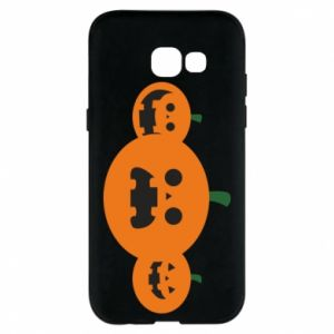 Phone case for Samsung A5 2017 Pumpkins with scary faces - PrintSalon