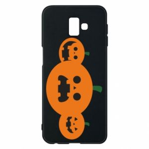 Phone case for Samsung J6 Plus 2018 Pumpkins with scary faces