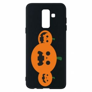 Phone case for Samsung A6+ 2018 Pumpkins with scary faces - PrintSalon
