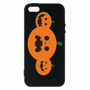 Phone case for iPhone 5/5S/SE Pumpkins with scary faces - PrintSalon