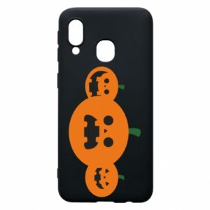 Phone case for Samsung A40 Pumpkins with scary faces - PrintSalon