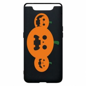 Phone case for Samsung A80 Pumpkins with scary faces - PrintSalon