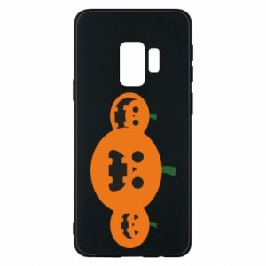 Phone case for Samsung S9 Pumpkins with scary faces - PrintSalon