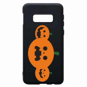 Phone case for Samsung S10e Pumpkins with scary faces - PrintSalon