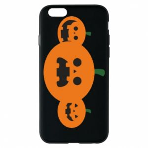 Phone case for iPhone 6/6S Pumpkins with scary faces - PrintSalon