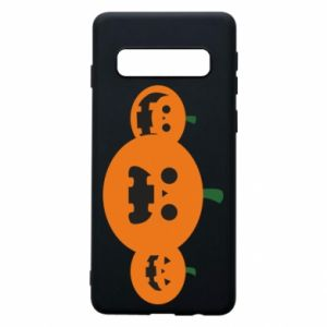 Phone case for Samsung S10 Pumpkins with scary faces - PrintSalon