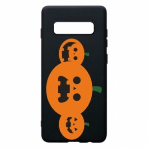 Phone case for Samsung S10+ Pumpkins with scary faces - PrintSalon