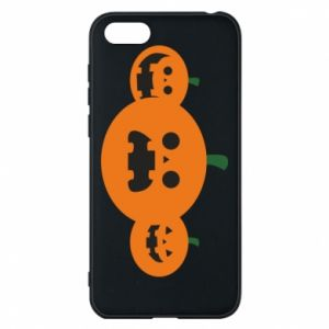 Phone case for Huawei Y5 2018 Pumpkins with scary faces - PrintSalon