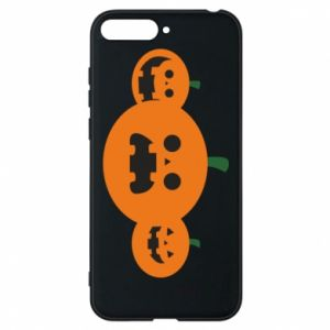 Phone case for Huawei Y6 2018 Pumpkins with scary faces - PrintSalon