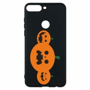 Phone case for Huawei Y7 Prime 2018 Pumpkins with scary faces - PrintSalon