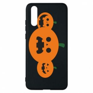 Phone case for Huawei P20 Pumpkins with scary faces - PrintSalon