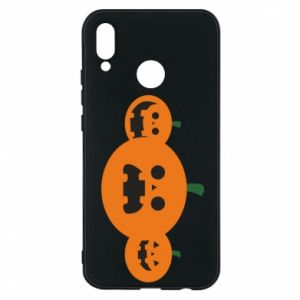 Phone case for Huawei P20 Lite Pumpkins with scary faces - PrintSalon